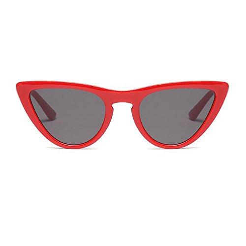 Gafas primavera sol Mujer súper Xinvision Rojo Gris Gafas Estilo para de Color Enorme 8 C7 Escoger Bisagra Ojo UV400 de Retro gato Marco Lente de Moda xqHYO