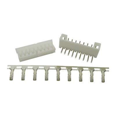 Gimax PH2.0 50Set 10-16Pin 2.0mm Connector Kits Pin Header+Vertical/90 Degrees Right Angle Pin Socket Housing+ Crimp Terminal - (Color: 90degree Right Angle, Pins: 15P)