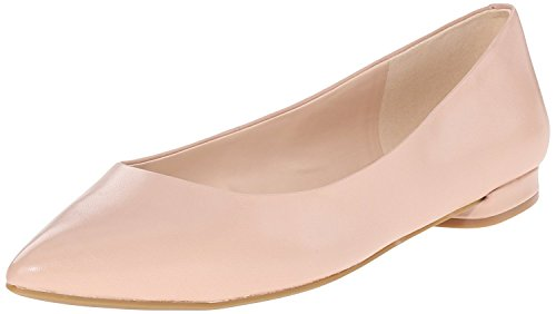 Nine West Women's Onlee Leather Ballet Flat, Light Pink, 41.5 B(M) EU/8.5 B(M) UK