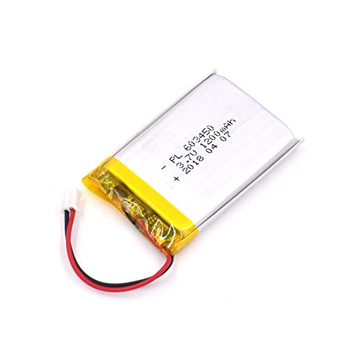 1200mah Li Ion Polymer Battery - YDL 3.7V 1200mAh 603450 Lipo battery Rechargeable Lithium Polymer ion Battery Pack with JST Connector