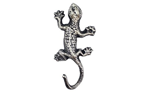Rustic Silver Cast Iron Lizard Hook 6