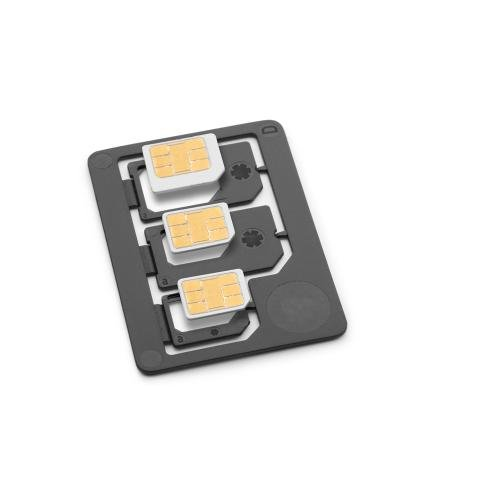 SAdapter Sim Adapter - Nano To Micro, Nano To Full, Micro To Full Adapters, Made in Germany, Black SADAPTER3IN1PKGBLK