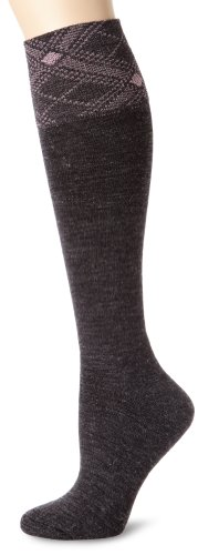Carhartt Women's Plaid Cuff Knee High Socks, Charcoal, Shoe: 5.5-11.5