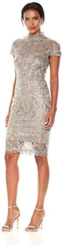 Tadashi Shoji 여성용 끈 레이스 캡 소매 드레스 / Tadashi Shoji 여성용 끈 레이스 캡 소매 드레스