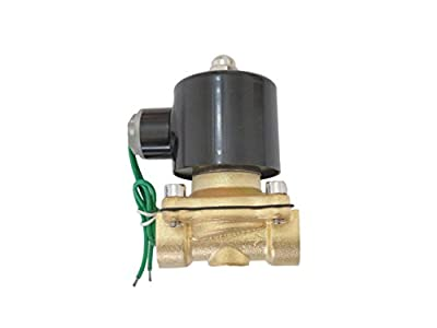 1/2 inch 24V AC VAC Brass Electric Solenoid Valve NPT Gas Water Air Normally Closed NC by JEM&JULES