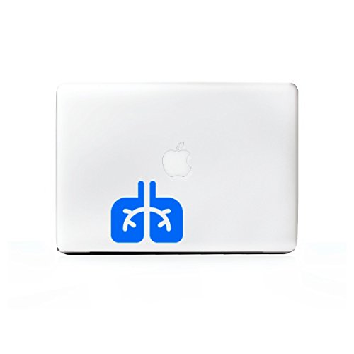 2X  Stickany Laptop Series Lungs Sticker For Macbook Pro  Chromebook  Surface Pro  And More  Blue