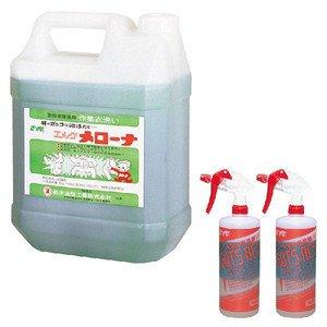 鈴木油脂工業の ガッツエースセット (ガッツエース本体2本+メローナ4L 1本) 作業着洗剤 B00KFHY25C
