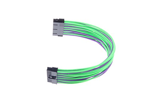 LM YN 24-Pin Motherboard Power Supply Extension Cable UL1007 /18AWG Purple-green by LM YN (Image #6)