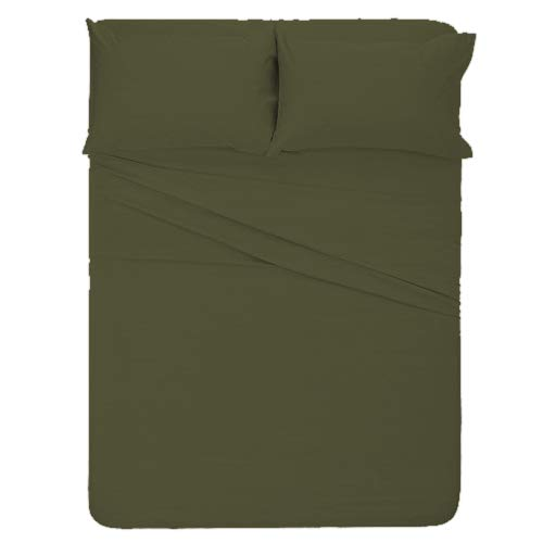 Mark Bedding Road Ready Camper Sheet Set (48x80) Solid Ash Grey - 1800 Series Microfiber - Specially Designed for RV, Trailer & -