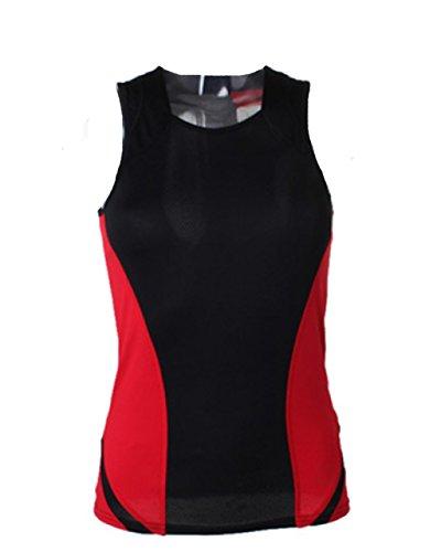 New GAMEGEAR Mujer de deporte chaleco tejido mujer Activewear Top negro/rojo