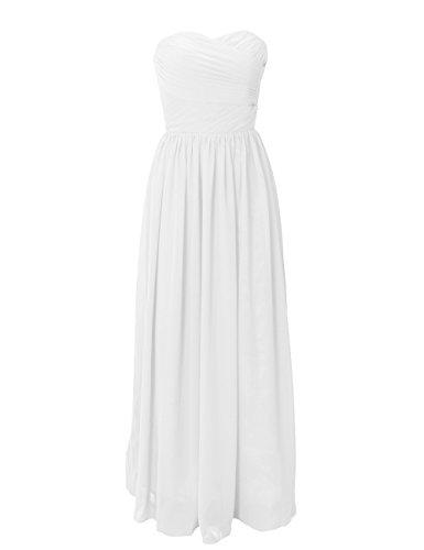 Dresstells Sweetheart Bridesmaid Dresses Chiffon Wedding DressesReception Dress 2014 New Fashion Ivory Size16