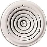 TRUAIRE 800-10 ROUND CEILING DIFFUSER, 10 IN., WHITE (1 PER CASE)