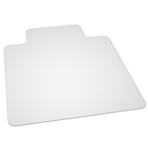 ES Robbins EverLife 36-Inch by 48-Inch Multitask Series Hard Floor with Lip Vinyl Chair Mat, Clear