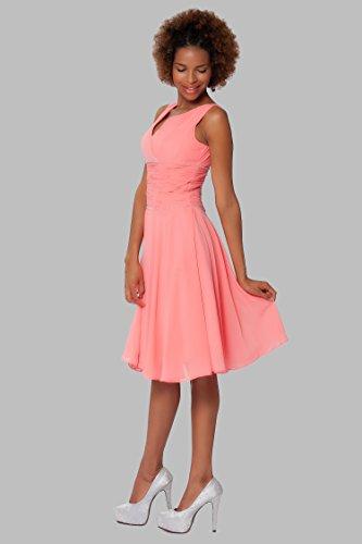 COJ1510 vestido c¨®ctel de Gorgeous Coral rodilla de honor damas SEXYHER qpFHwT8x