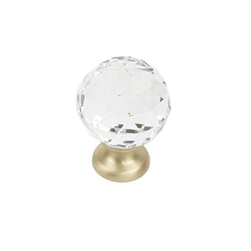 Satin Brass Crystal - 3