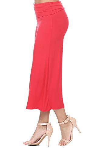 iliad USA 7012 Women's Knit Jersey Capri Culottes Pants Coral XL