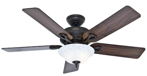Hunter Fan Company Hunter 53048 Transitional 52 Ceiling Fan from Kensington Collection Dark Finish, Inch, New Bronze