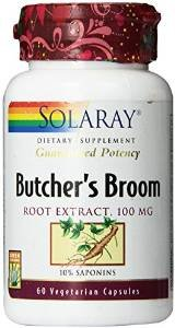 Solaray Butchers Broom Extract, 100mg, 60 Count (3 Pack) (Solaray Butchers Broom)