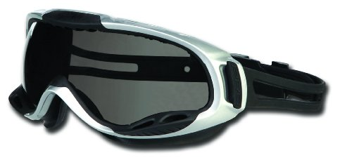 Gray Plastic Lens (MCR Safety PGX122AF PGX1 Thermo Plastic Rubber Adjustable Strap Safety Goggle with Smoke Frame and Gray Anti-Fog Lens)