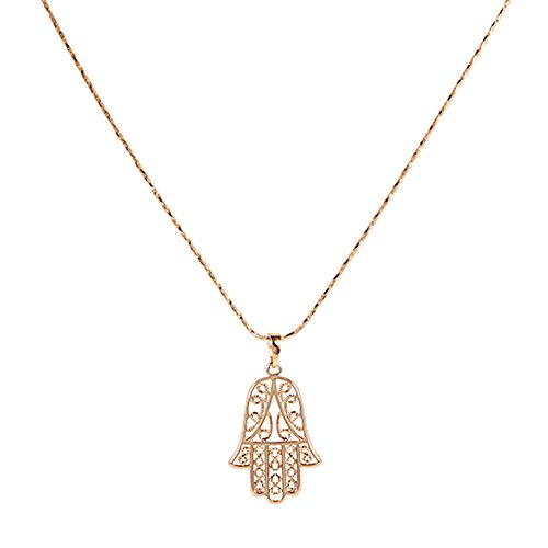 Xuping Black Friday Hamsa Hand Evil Eye Necklaces Children's Womens Christmas M18-30014 Wholesale Rhinestone Necklaces