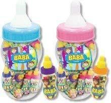 The BaBa Pink Candy Filled Baby Bottles Jumbo Container, 20 - 1.41 Ounce Candy Filled Baby Bottles by Foreign Candy Company