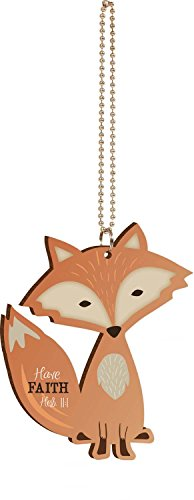 P. Graham Dunn Have Faith Fox Wood Car Charm -