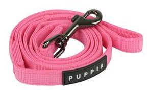Authentic Puppia Two Tone Lead, Pink, Medium, My Pet Supplies