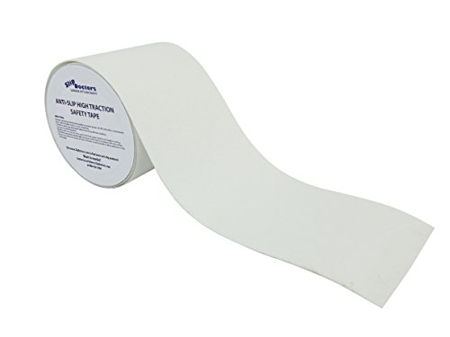 Safety Tape Roll 4'' X 15' Non Slip Safety Grit Tape Clear by SlipDoctors (Image #1)