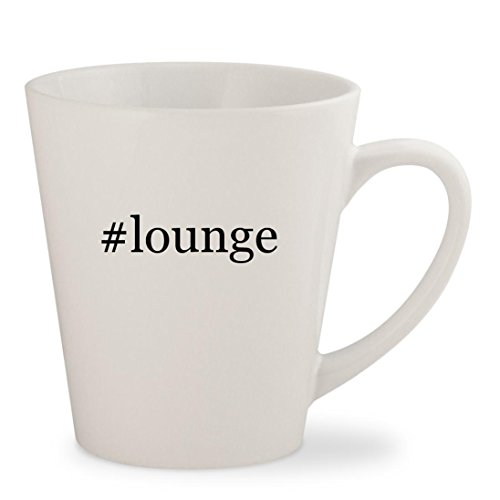 #lounge - White Hashtag 12oz Ceramic Latte Mug Cup (Midnight Rendezvous Pillow)