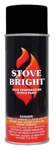Stove Bright TI-8115 High Temperature Paint, 1200 Degree F Operating Temperature Range, 12 oz Aerosol, Flat (Flat Black Stove)