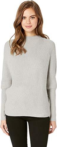 Jack by BB Dakota Junior's Sugar Glider Dolman Sleeve Rib Stitch Sweater, Light Heather Grey Extra Small