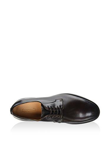 CAMPANILE T2637, Zapatos de Cordones Derby para Hombre, Marrón Oscuro, 43.5 EU