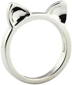 8% Off 925 Sterling Silver Cat Ears Ring Kitty Cat Ring