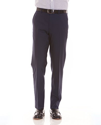 The Savile Row Company Savile Row Men's Navy Tailored Business Dress Pant 34'' 30'' by The Savile Row Company