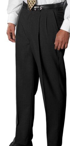 Classic Tall Wool - Ed Garments Men'S Classic Pleated Front Dress Pant-Black-38-36