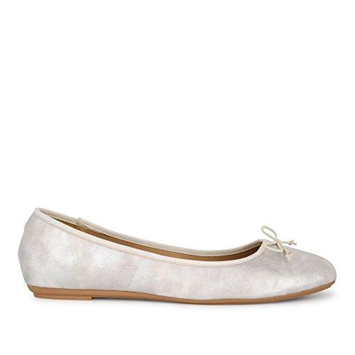 Fitters Ballerina Stella Silber Metallic / Ballerinas Ballerinen