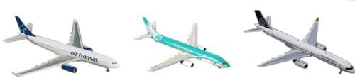 Gemini Jets St. Maarten Airport Series SXM (3-Plane Set) B737 B757 A330 1: 400 Scale [parallel import goods] (Plane B757)