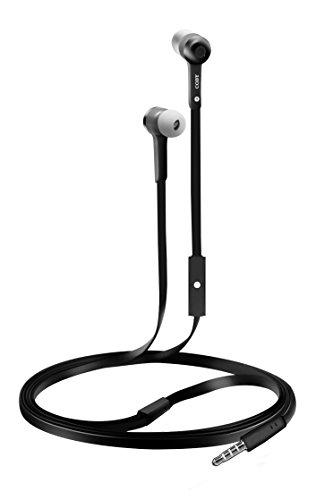 CVE-101-BLK Stereo Earbuds w/Mic, - Coby Free Earphone Hands