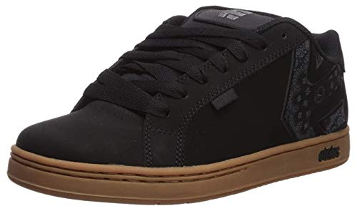 #etnies Metal Mulisha Fader Black Gum Mens Leather Skate Trainers