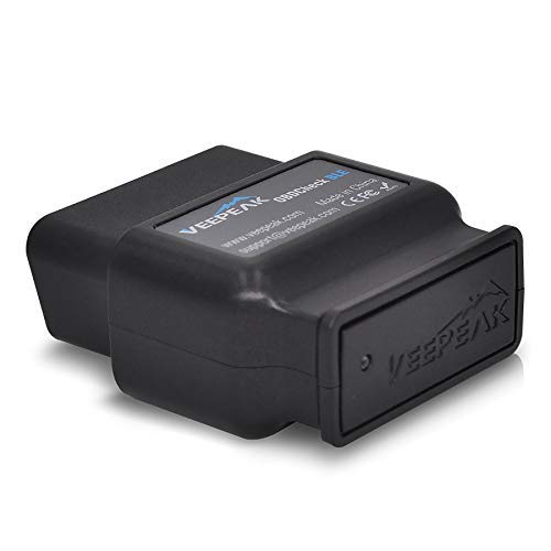 Veepeak OBDCheck BLE OBD2 Bluetooth Scanner Auto OBD II Diagnostic Scan Tool for iOS & Android, Bluetooth 4.0 Car Check Engine Light Code Reader Supports Torque, OBD Fusion, BimmerCode app