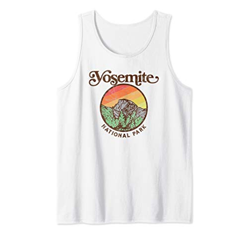 Yosemite National Park Retro 60s Half Dome Graphic Tank - Dome Park National Half Yosemite