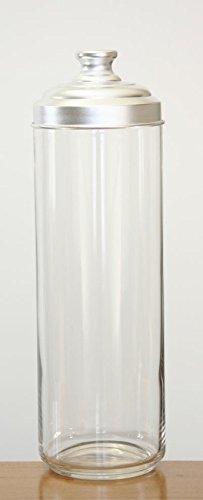 ITALO OTTINETTI Barattolo Opaco Coperchio in Alluminio Metallizzato Taglia Unica capacit/à 30 2/Litri Vetro e Alluminio