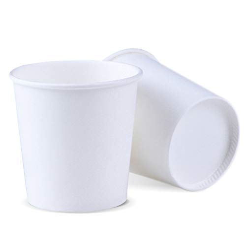 Bathroom Cup 500 Pack 4 OZ Espresso Cups Luckypack Sampling Paper Coffee Cups For Hot and Cold Beverages Plain White Disposable Travel To Go Small Cups