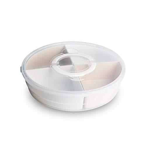 DROHE-Q Plato seco Sub-celosía Tapa Sala de Estar Hogar Caramelo Plástico Transparente Europeo Redondo Wedding-32x7.3 Cm