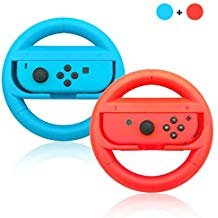 Bainuo Handle Nintendo Switch, Joy-Con Grips for Nintendo Switch,Wear-resistant Nintendo switch Handgrip Kit- black + black (red blue) (Dragon Ball Xenoverse 2 Dragon Ball Wishes)