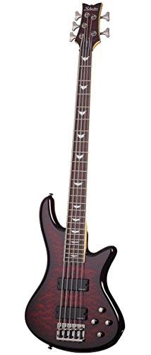 Schecter Stiletto Extreme-5 Bassgitarre, Black Cherry