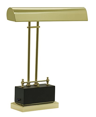 House of Troy BPLED200-617 Battery Operated LED Piano Lamp, Black and Brass Finish