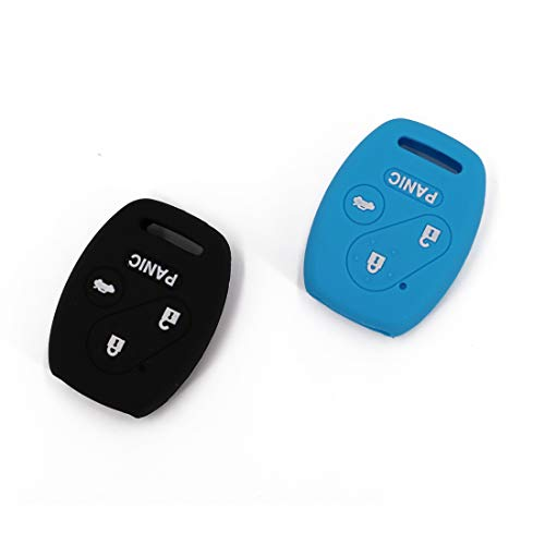 UTSAUTO Rubber Key Fob Cover Keyless Entry Shell Case Fob Rubber Key Skin Cover Fit For Honda Accord Civic CR-V 3+1 Buttons ()