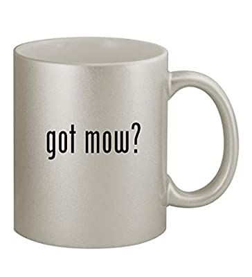 got mow? - 11oz Silver Sturdy Ceramic Coffee Cup Mug