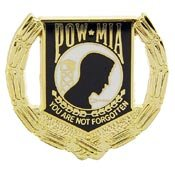 Pow Mia Wreath (PINS- POW*MIA, WREATH)